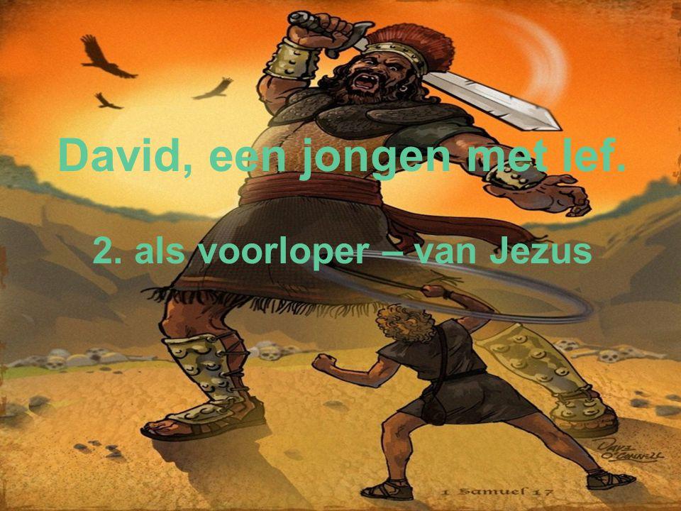 David, een jongen met lef. 2. als voorloper – van Jezus