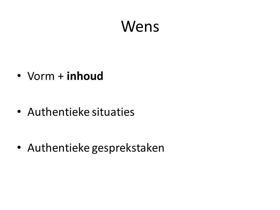 Referentiekader Kan actief deelnemen aan gesprekken in het kader van werk/beroepsvoorbereiding, een project of (maatschappelijke) stage en de evaluatie daarvan. commissie Meijerink, oktober 2009