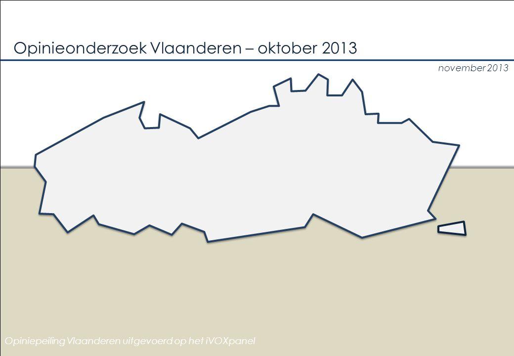 november 2013 Opinieonderzoek Vlaanderen – oktober 2013 Opiniepeiling Vlaanderen uitgevoerd op het iVOXpanel