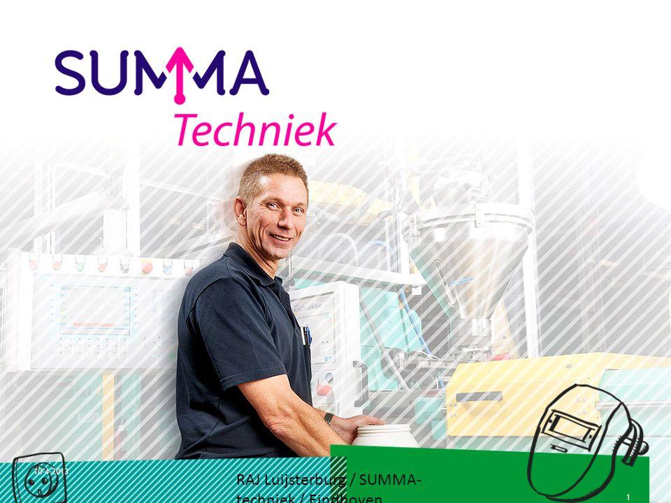 10-4-2013 RAJ Luijsterburg / SUMMA- techniek / Eindhoven 1