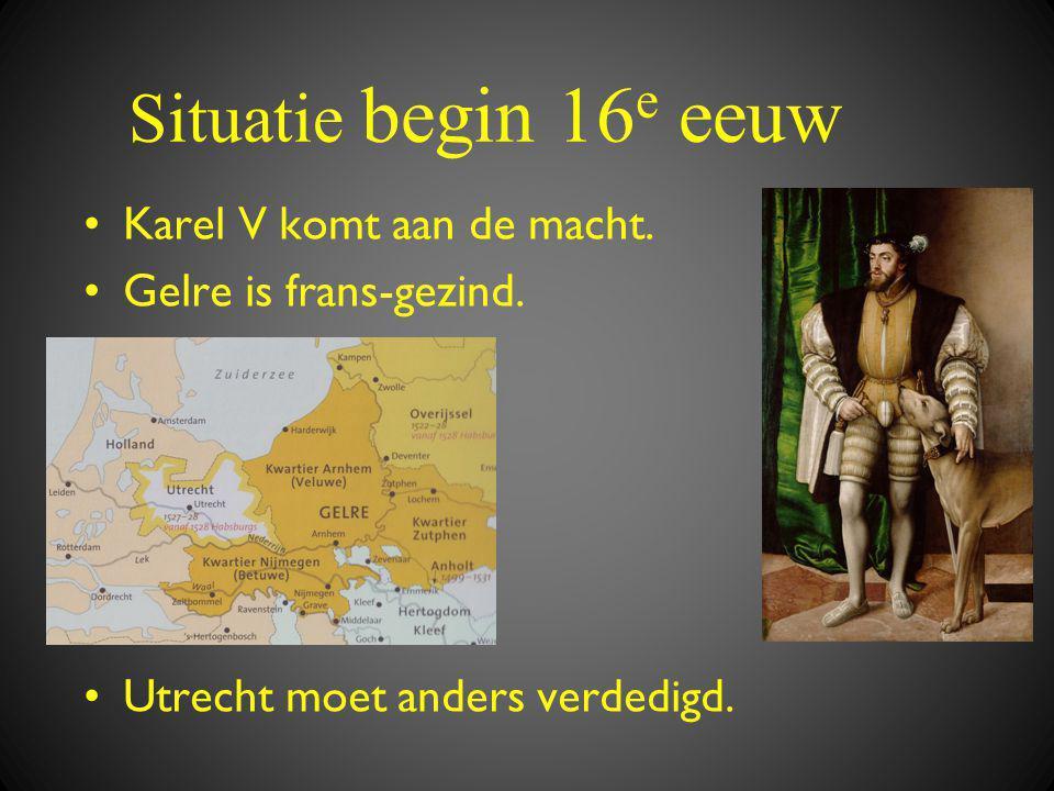 Situatie begin 16 e eeuw •Karel V komt aan de macht.