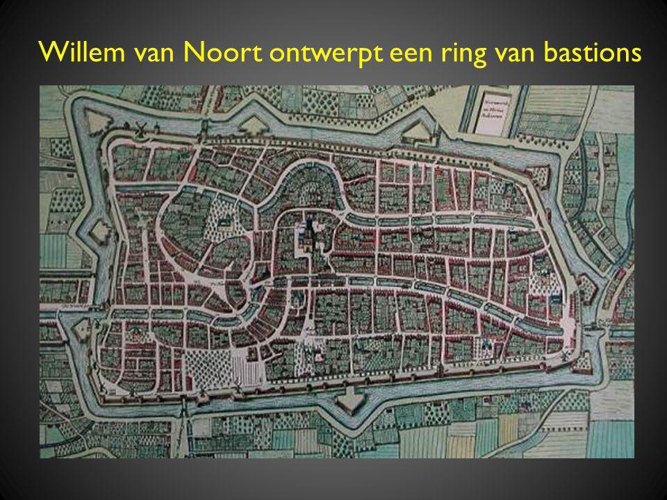 Willem van Noort ontwerpt een ring van bastions
