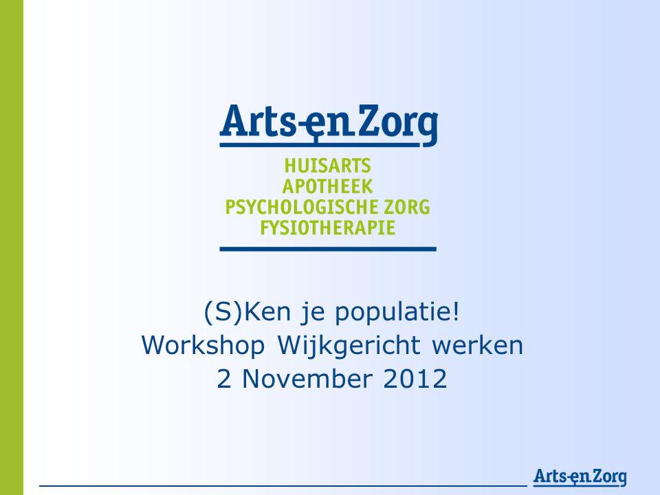 Agenda • Korte intro AEZ • Wie is je populatie.