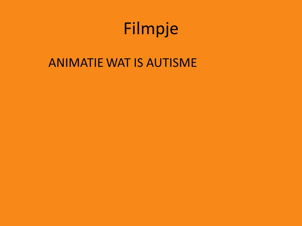 Filmpje ANIMATIE WAT IS AUTISME