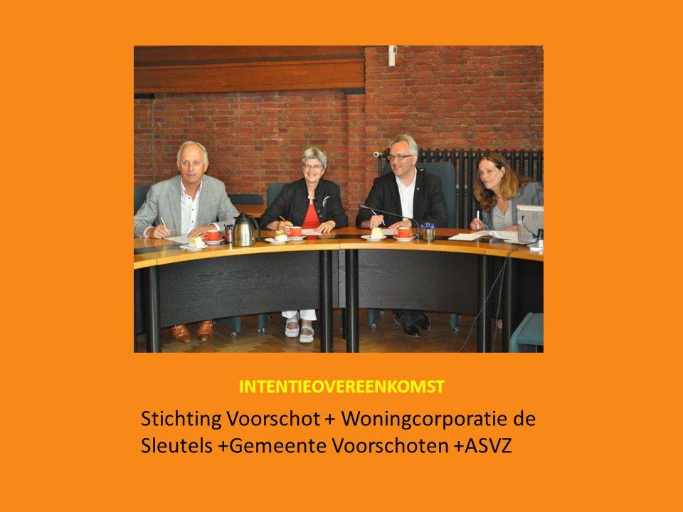 INTENTIEOVEREENKOMST Stichting Voorschot + Woningcorporatie de Sleutels +Gemeente Voorschoten +ASVZ