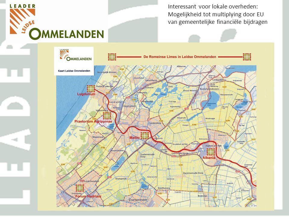 Interessant voor lokale overheden: Mogelijkheid tot multiplying door EU van gemeentelijke financiële bijdragen