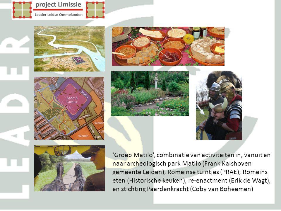'Groep Matilo', combinatie van activiteiten in, vanuit en naar archeologisch park Matilo (Frank Kalshoven gemeente Leiden), Romeinse tuintjes (PRAE),