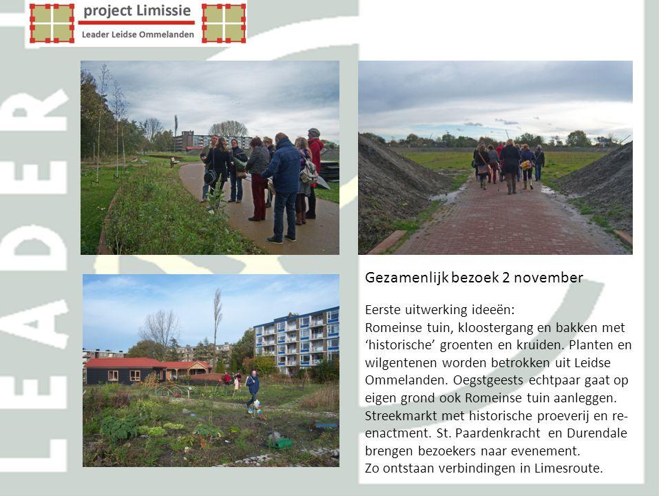 Gezamenlijk bezoek 2 november Eerste uitwerking ideeën: Romeinse tuin, kloostergang en bakken met 'historische' groenten en kruiden. Planten en wilgen