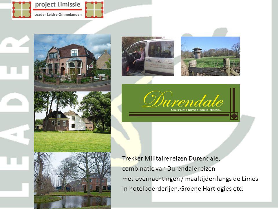 Trekker Militaire reizen Durendale, combinatie van Durendale reizen met overnachtingen / maaltijden langs de Limes in hotelboerderijen, Groene Hartlog