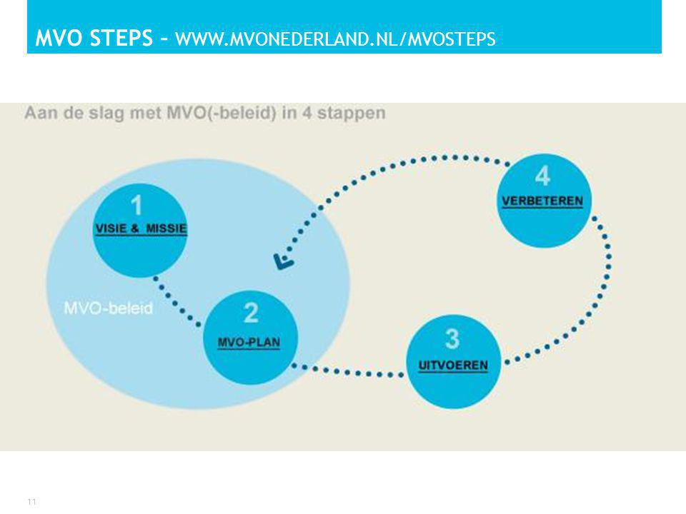 MVO STEPS – WWW.MVONEDERLAND.NL/MVOSTEPS 11