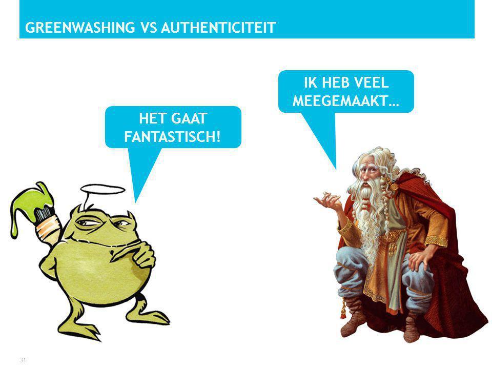 GREENWASHING VS AUTHENTICITEIT 31 HET GAAT FANTASTISCH! IK HEB VEEL MEEGEMAAKT…