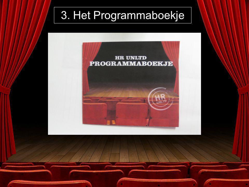 3. Het Programmaboekje