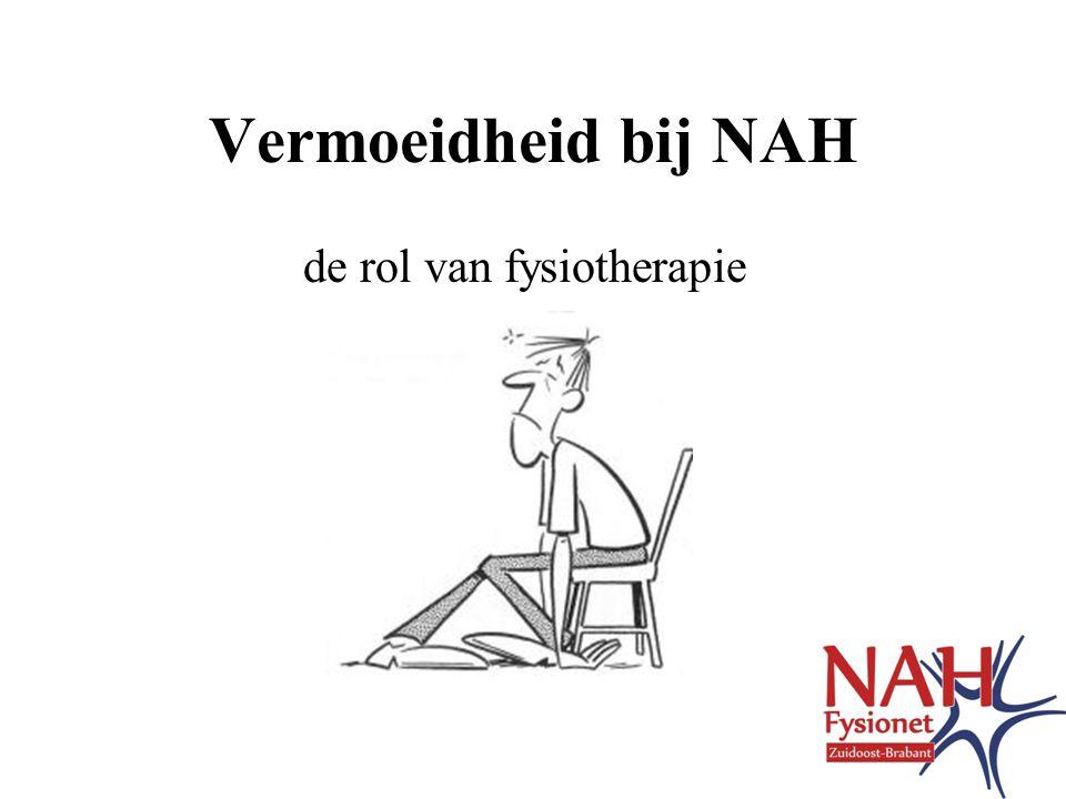 Vermoeidheid bij NAH de rol van fysiotherapie