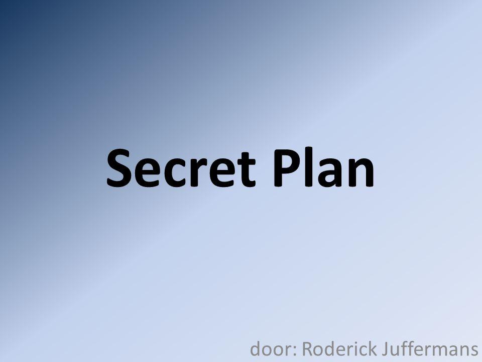 Secret Plan door: Roderick Juffermans