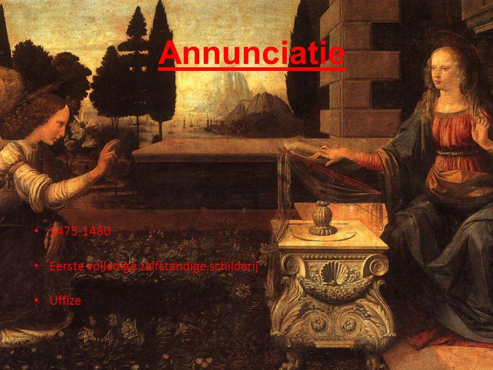 Annunciatie • 1475-1480 • Eerste volledige zelfstandige schilderij • Uffize