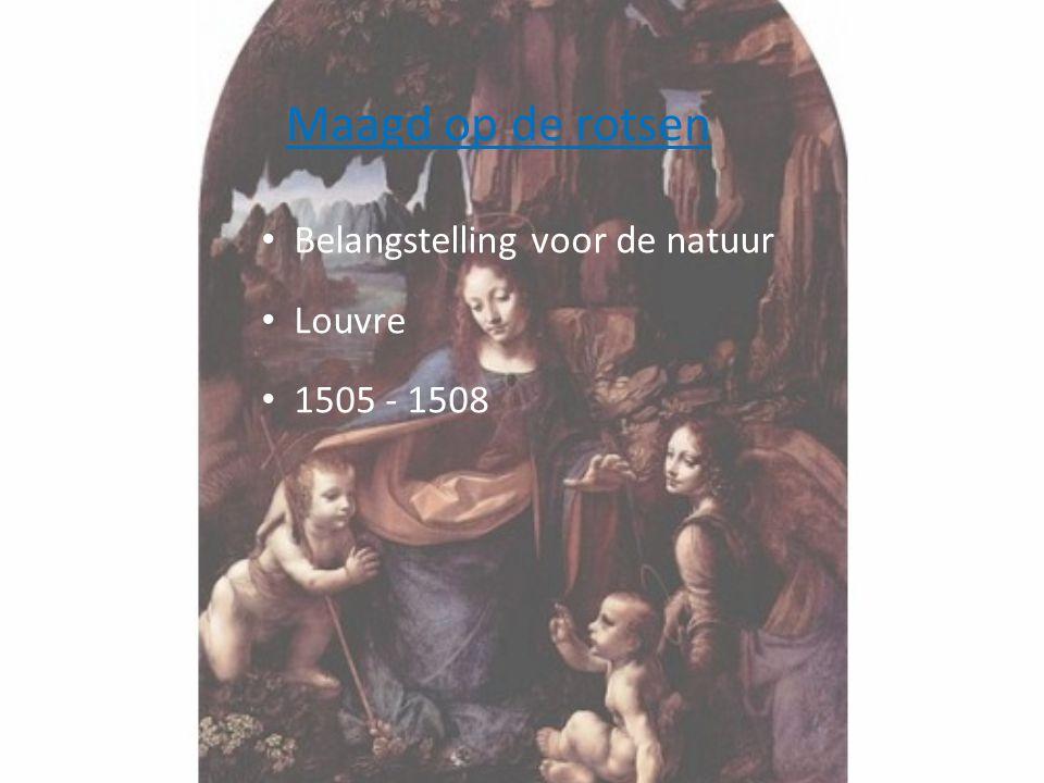 Maagd op de rotsen • Belangstelling voor de natuur • Louvre • 1505 - 1508