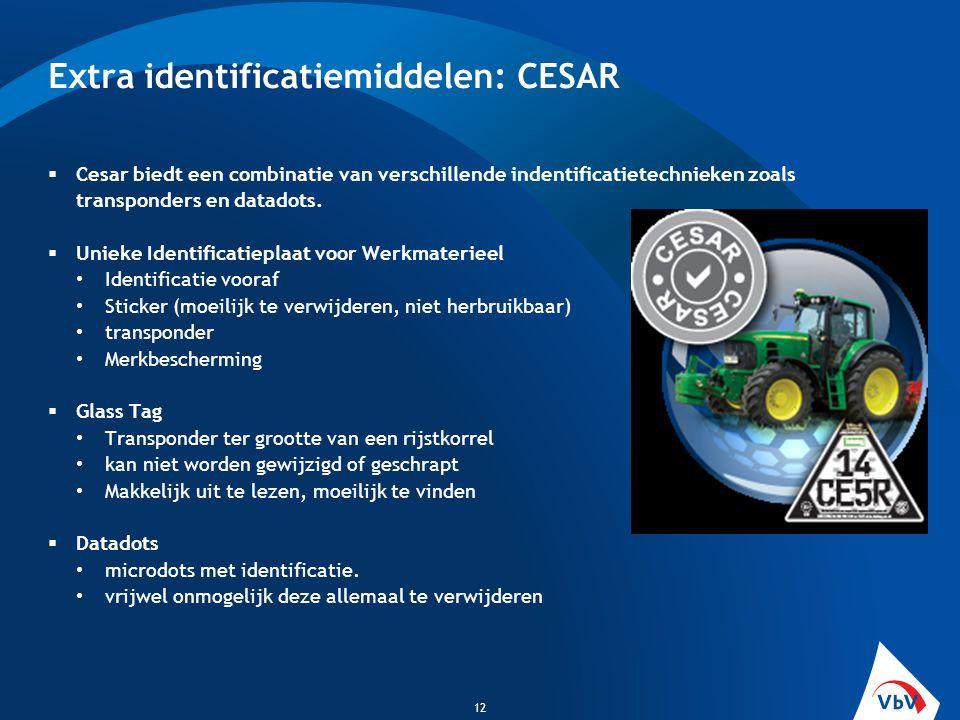  Cesar biedt een combinatie van verschillende indentificatietechnieken zoals transponders en datadots.  Unieke Identificatieplaat voor Werkmaterieel