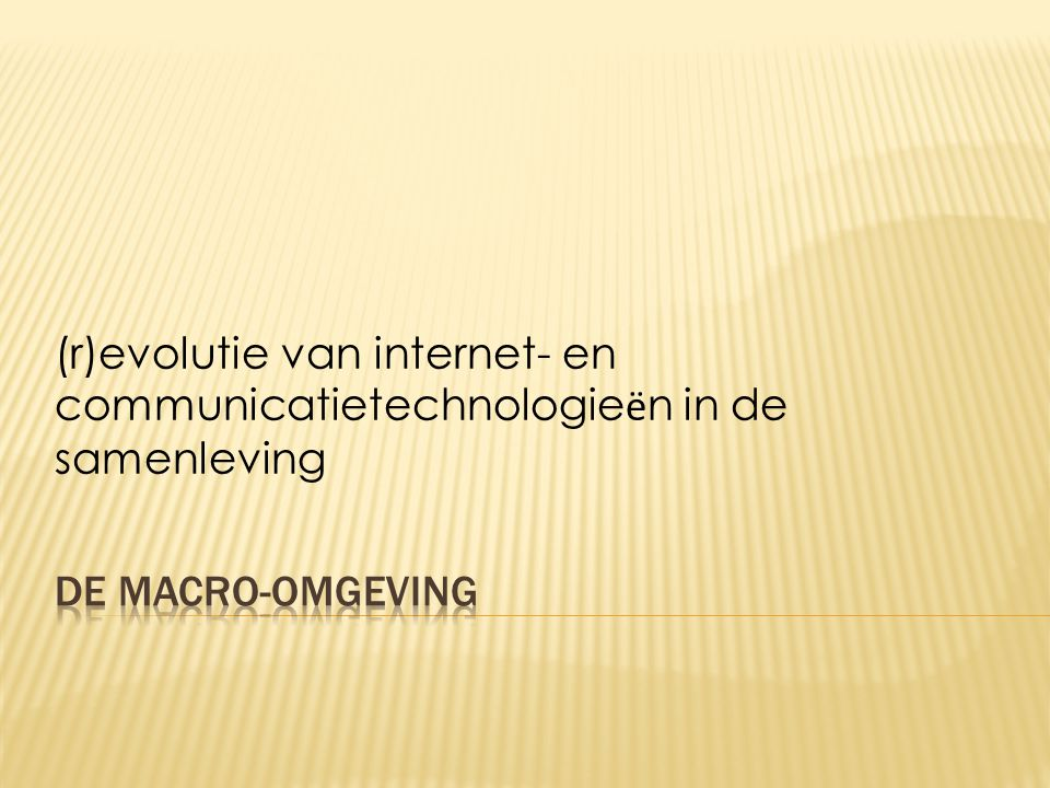 (r)evolutie van internet- en communicatietechnologie ë n in de samenleving