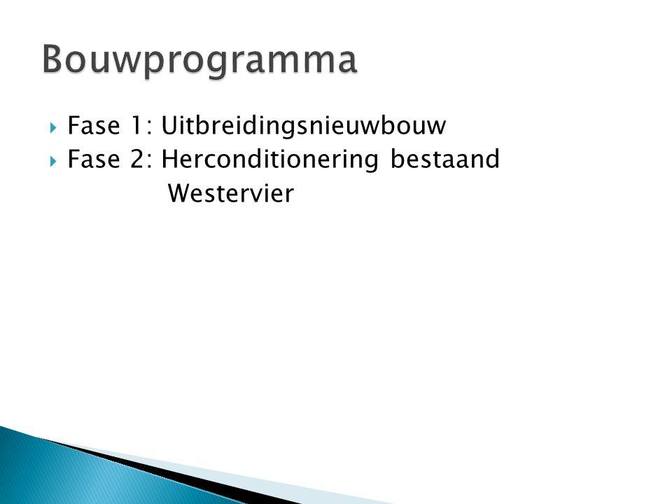  Fase 1: Uitbreidingsnieuwbouw  Fase 2: Herconditionering bestaand Westervier