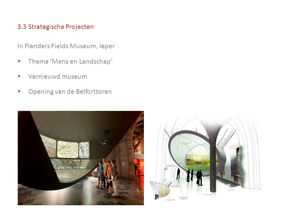 3.3 Strategische Projecten In Flanders Fields Museum, Ieper  Thema 'Mens en Landschap'  Vernieuwd museum  Opening van de Belforttoren