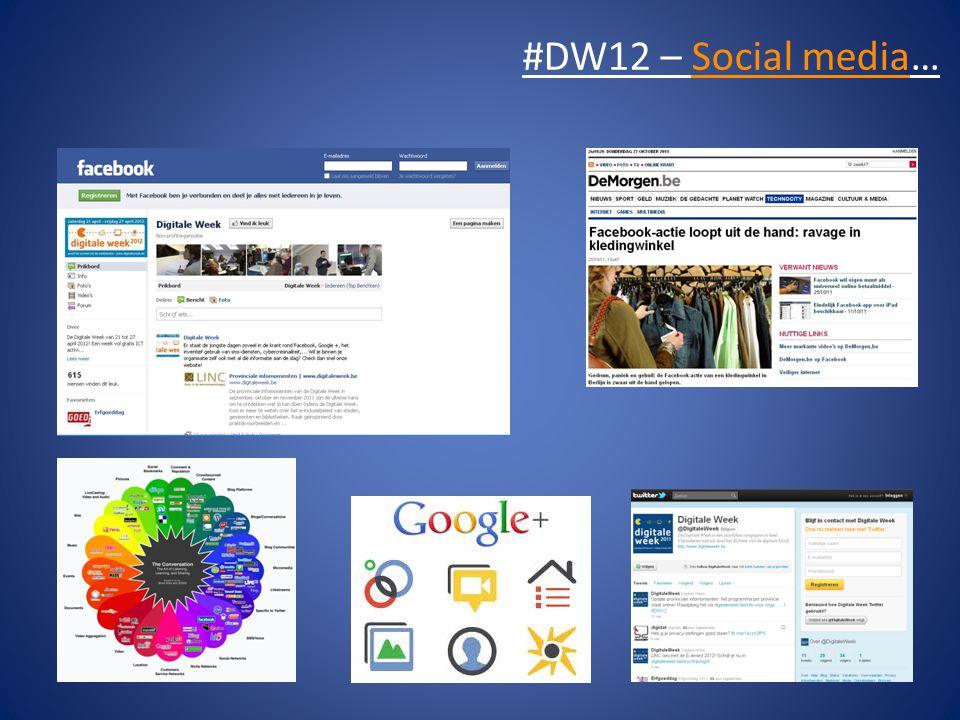 #DW12 – Social media…
