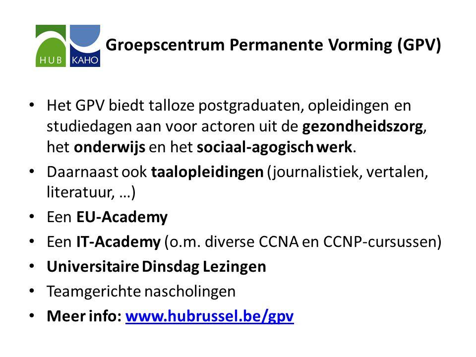Groepscentrum Permanente Vorming (GPV) • Het GPV biedt talloze postgraduaten, opleidingen en studiedagen aan voor actoren uit de gezondheidszorg, het