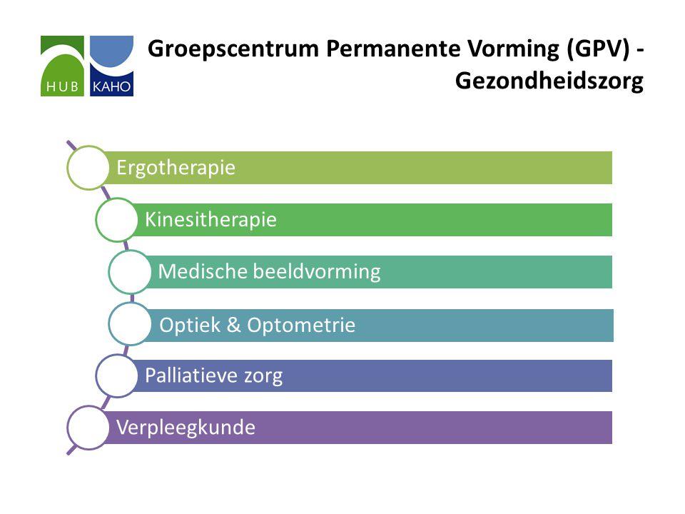 Groepscentrum Permanente Vorming (GPV) - Gezondheidszorg Ergotherapie Kinesitherapie Medische beeldvorming Optiek & Optometrie Palliatieve zorg Verpleegkunde