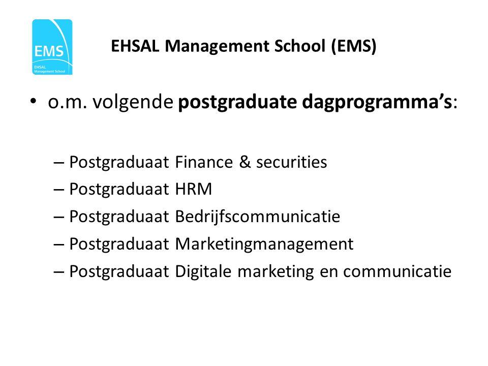EHSAL Management School (EMS) • o.m.