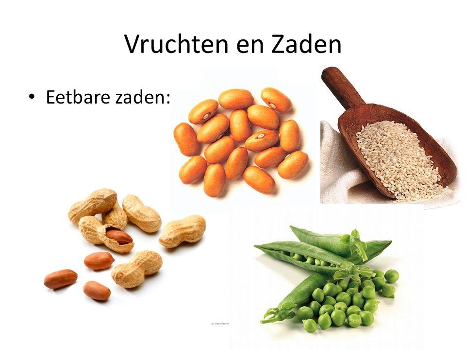 Vruchten en Zaden • Eetbare zaden: