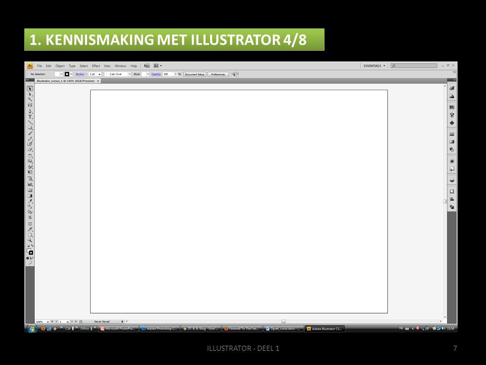 1. KENNISMAKING MET ILLUSTRATOR 4/8 ILLUSTRATOR - DEEL 17