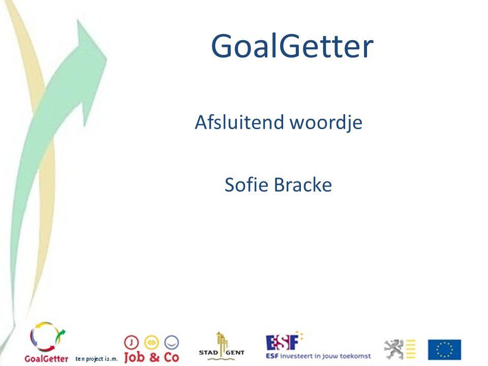 GoalGetter Afsluitend woordje Sofie Bracke