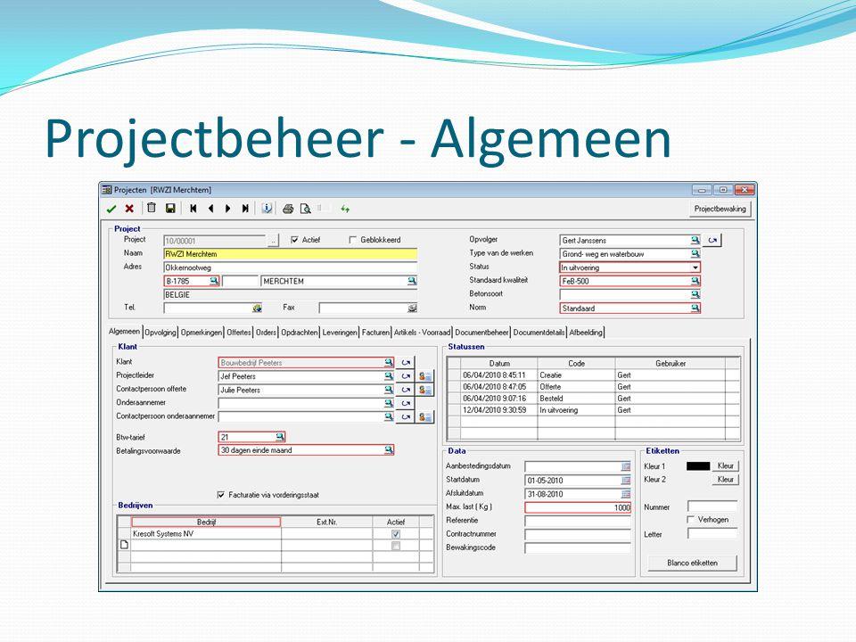 Projectbeheer - Algemeen