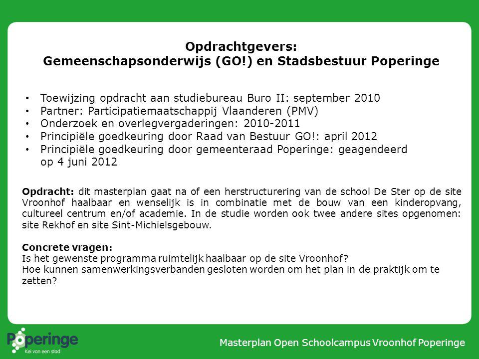 Masterplan Open Schoolcampus Vroonhof Poperinge 1. SITUERING