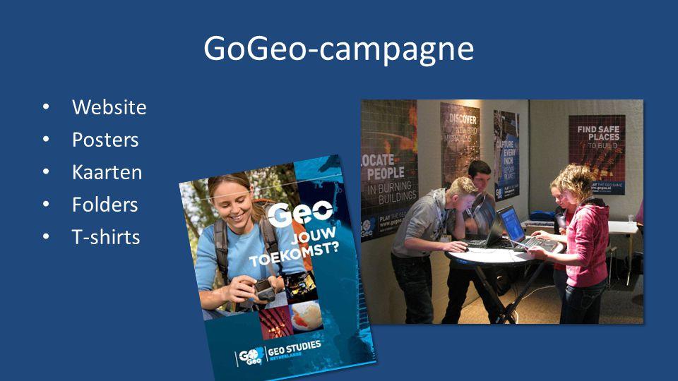 GoGeo-campagne • Website • Posters • Kaarten • Folders • T-shirts