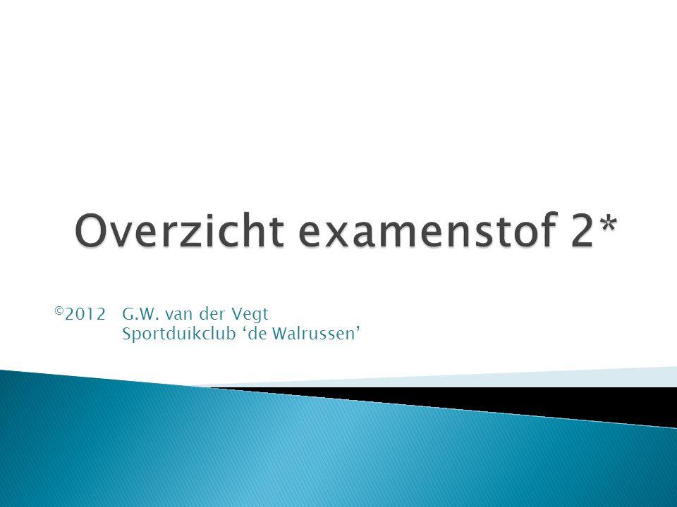 © 2012 G.W. van der Vegt Sportduikclub 'de Walrussen'