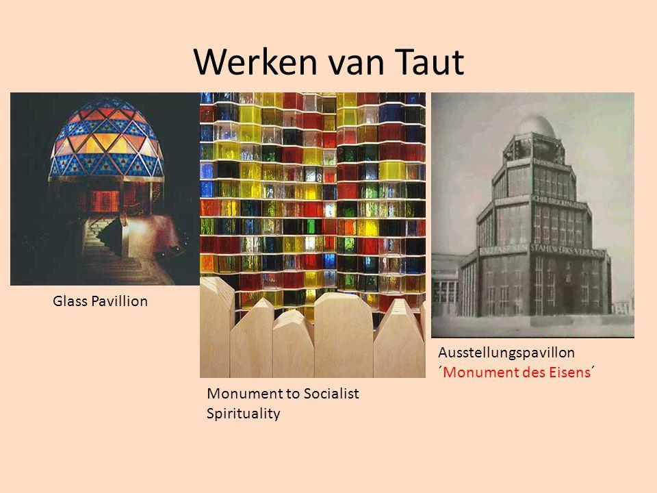 Werken van Taut Glass Pavillion Monument to Socialist Spirituality Ausstellungspavillon ´Monument des Eisens´