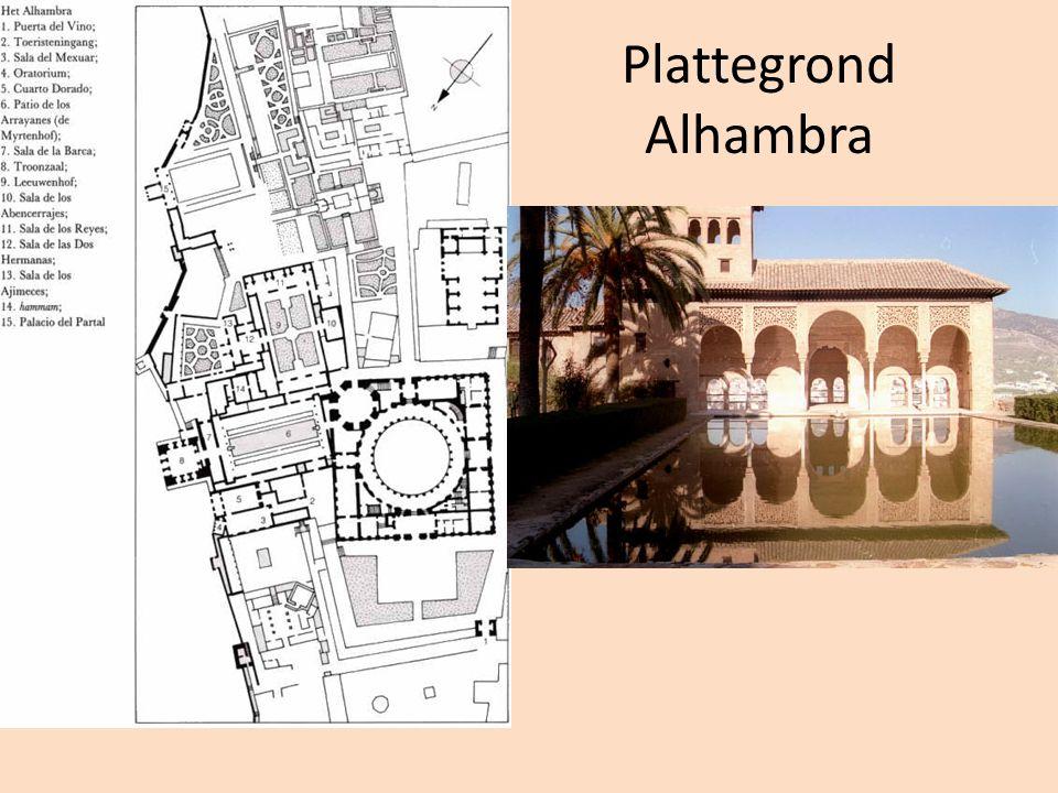 Plattegrond Alhambra