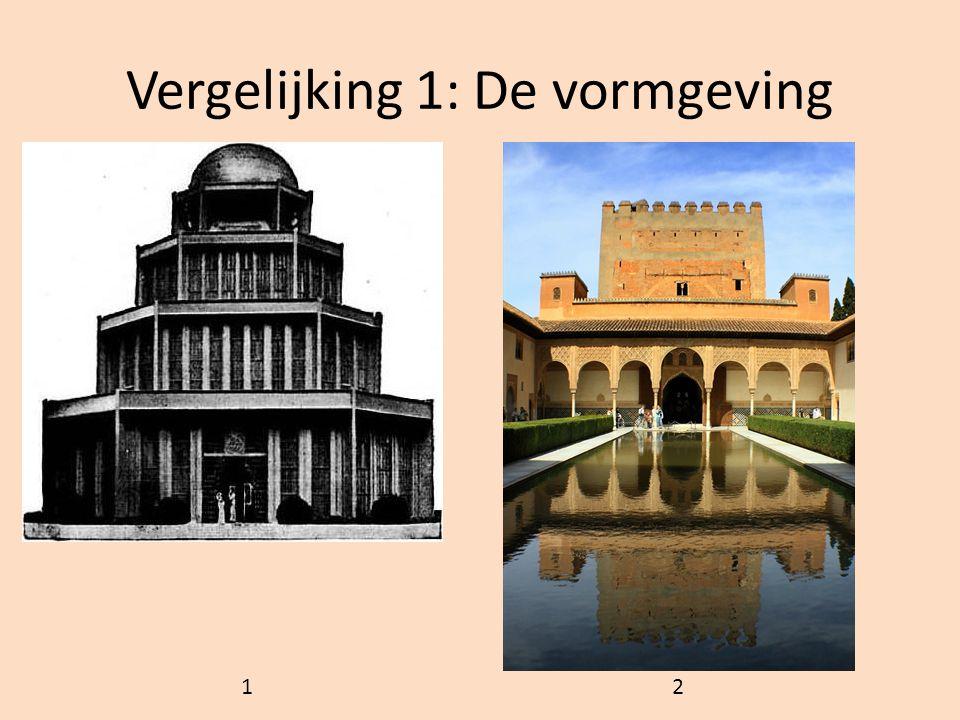 Vergelijking 1: De vormgeving 1 2