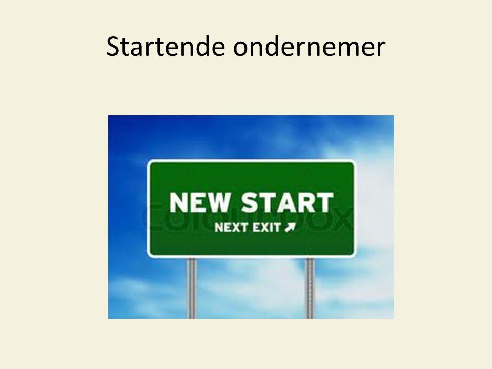 Startende ondernemer