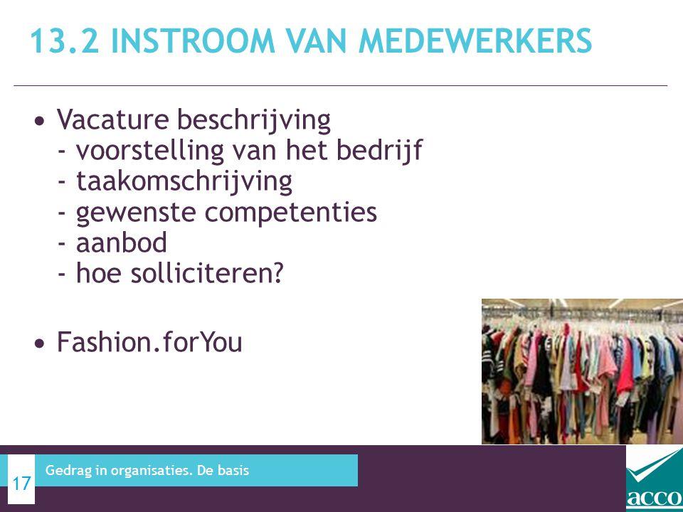 • Vacature beschrijving - voorstelling van het bedrijf - taakomschrijving - gewenste competenties - aanbod - hoe solliciteren? • Fashion.forYou 13.2 I