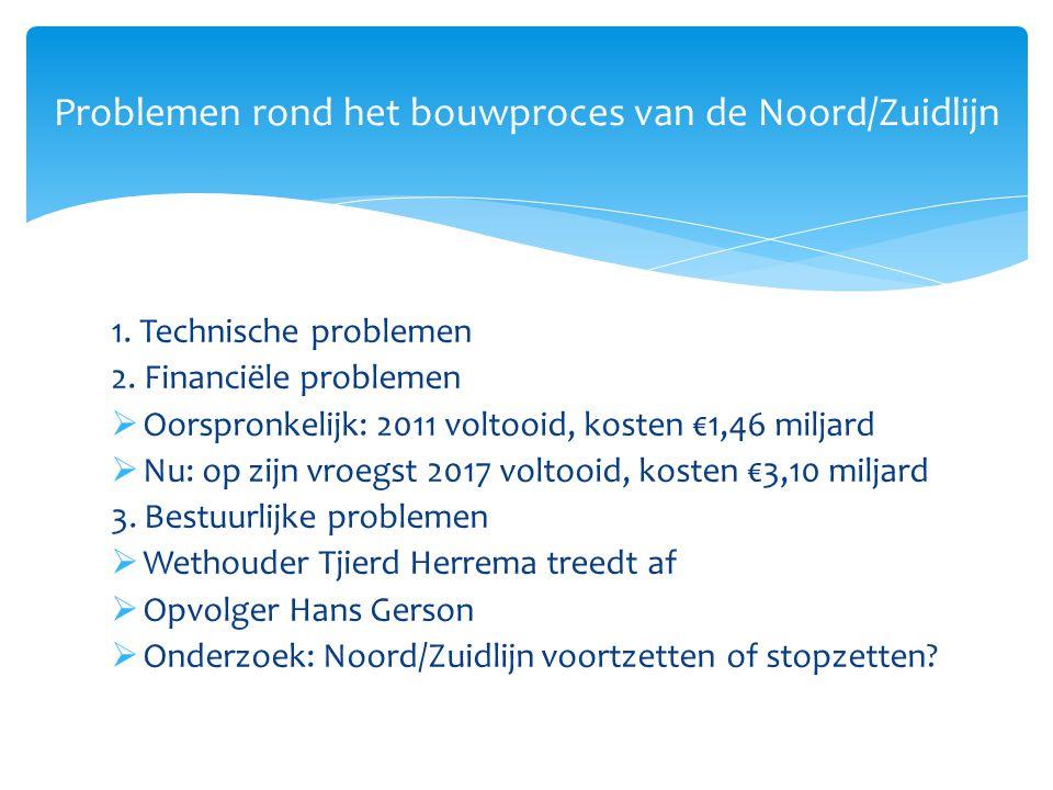 1. Technische problemen 2. Financiële problemen  Oorspronkelijk: 2011 voltooid, kosten €1,46 miljard  Nu: op zijn vroegst 2017 voltooid, kosten €3,1