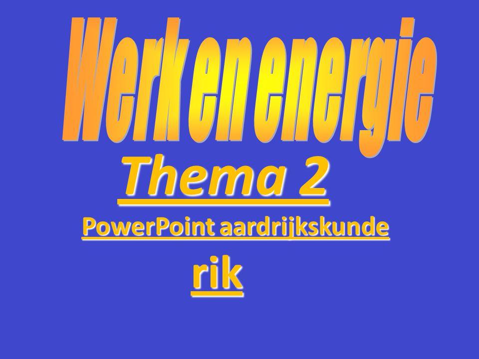 Thema 2 PowerPoint aardrijkskunde PowerPoint aardrijkskunde rik rik