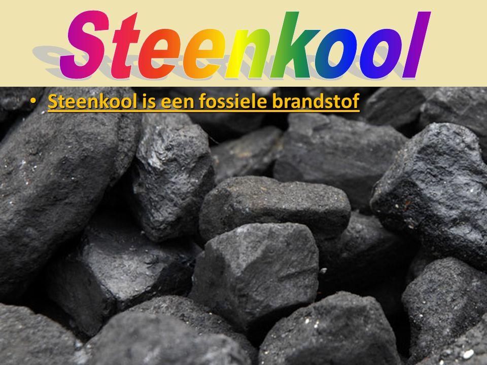 • Steenkool is een fossiele brandstof