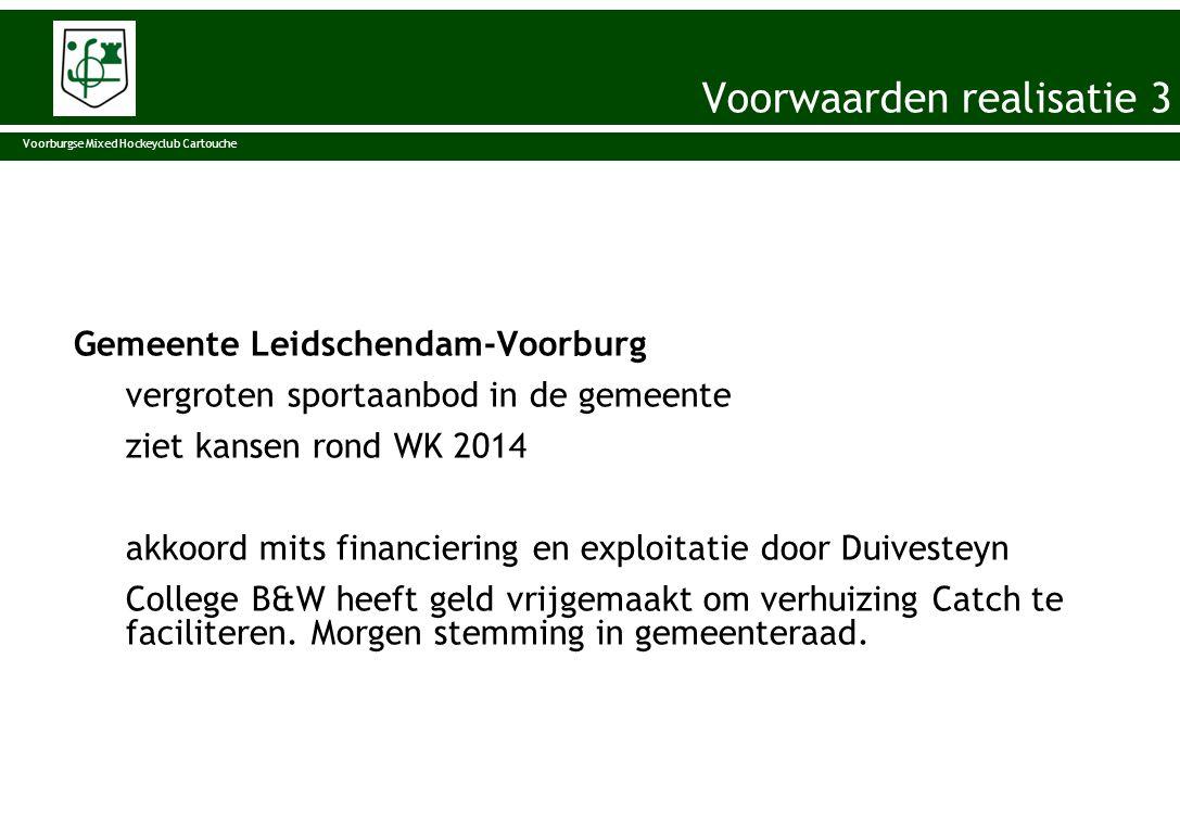 Gemeente Leidschendam-Voorburg vergroten sportaanbod in de gemeente ziet kansen rond WK 2014 akkoord mits financiering en exploitatie door Duivesteyn