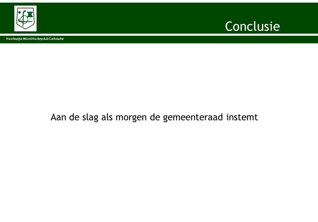 Aan de slag als morgen de gemeenteraad instemt Voorburgse Mixed Hockeyclub Cartouche Conclusie