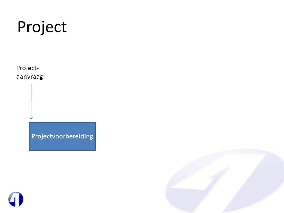 Project Projectvoorbereiding Project- aanvraag