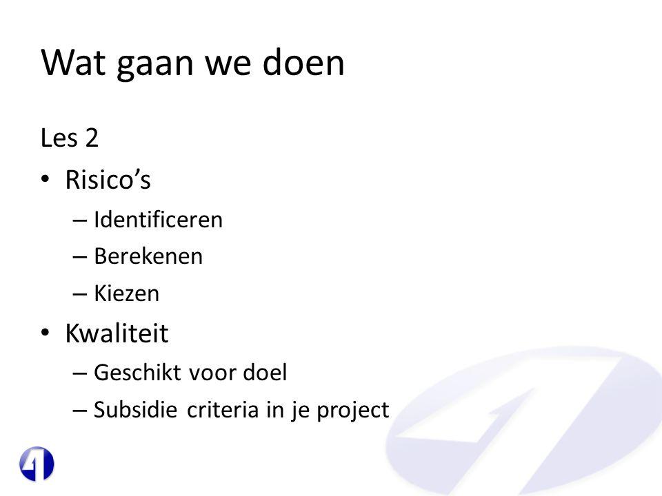 Project Justification: (business case = REDEN) • Willen we dit.