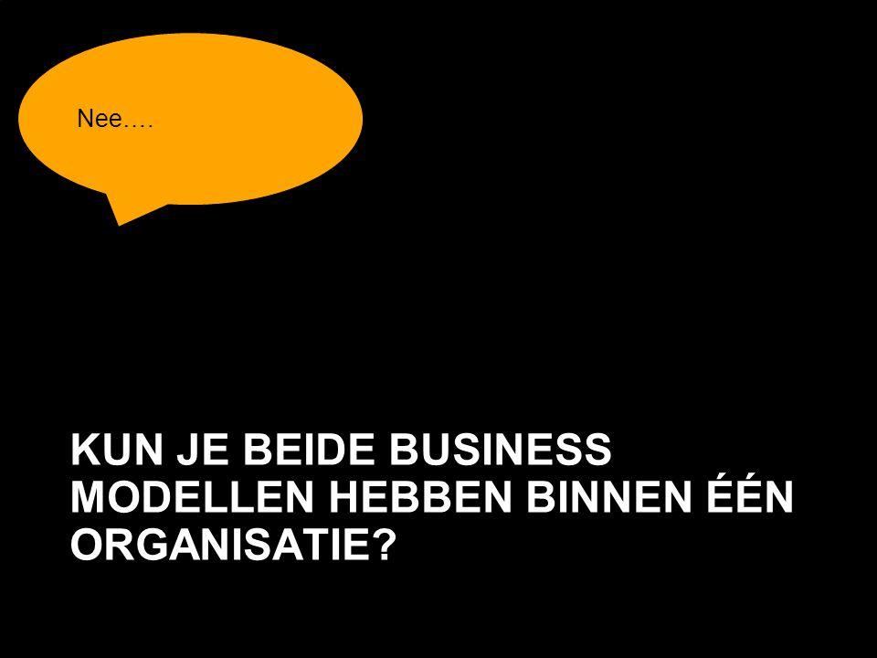 Page  43 KUN JE BEIDE BUSINESS MODELLEN HEBBEN BINNEN ÉÉN ORGANISATIE? Nee….