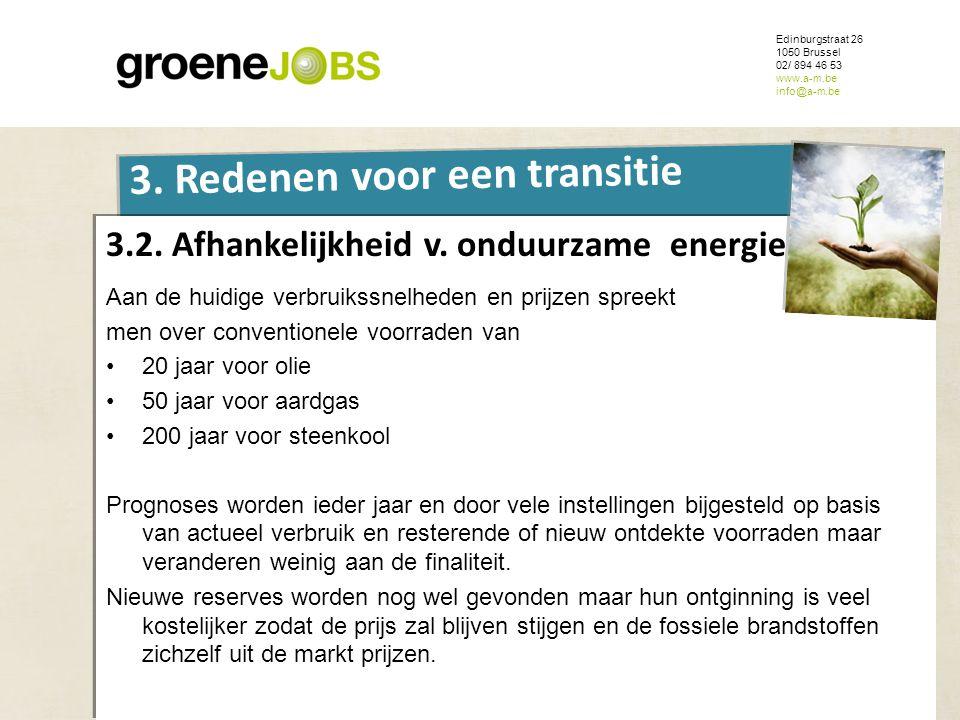 ONDERWERP Edinburgstraat 26 1050 Brussel 02/ 894 46 53 www.a-m.be info@a-m.be 3. Redenen voor een transitie 3.2. Afhankelijkheid v. onduurzame energie