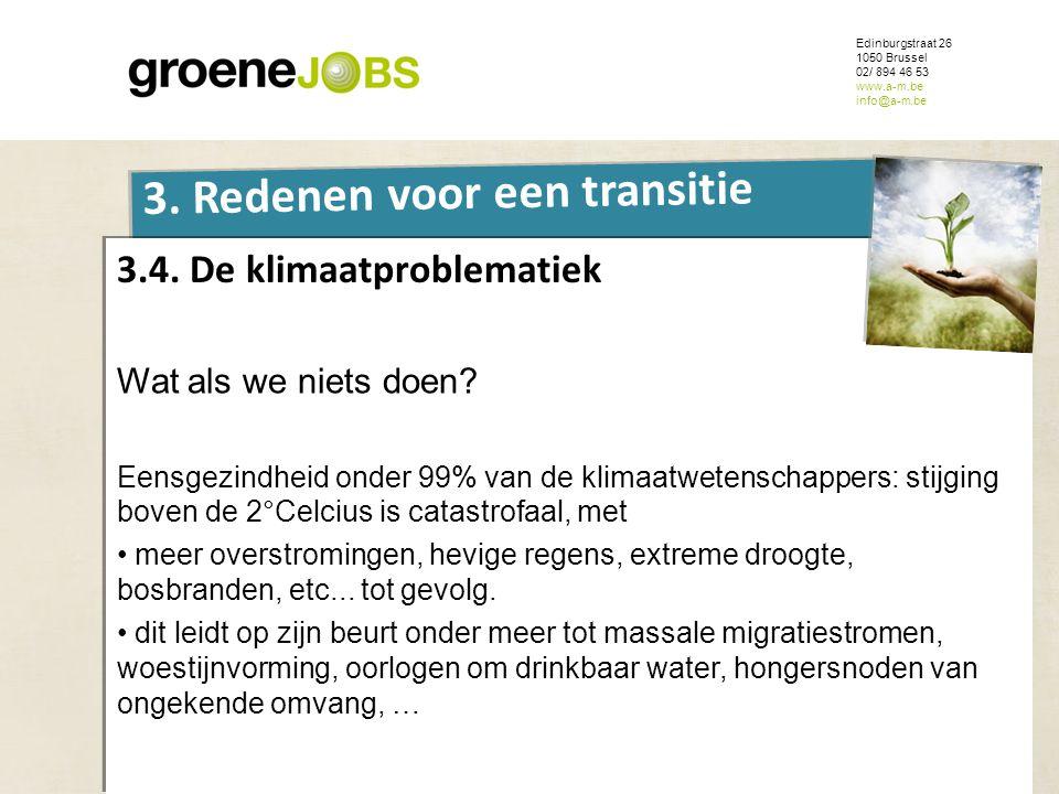 ONDERWERP Edinburgstraat 26 1050 Brussel 02/ 894 46 53 www.a-m.be info@a-m.be 3. Redenen voor een transitie 3.4. De klimaatproblematiek Wat als we nie